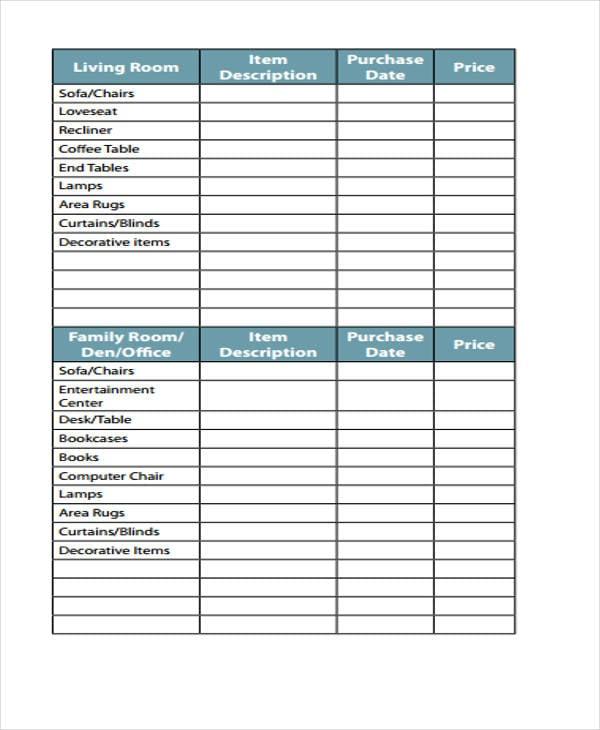 31 Printable Inventory Templates Free Premium Templates