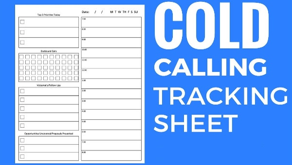 how to create and use a cold call tracking sheet