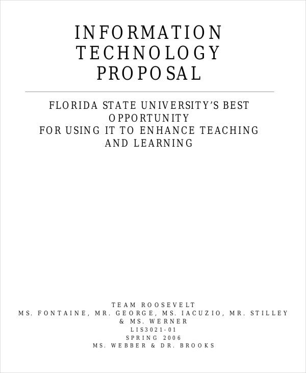 It Proposal Template Maraton Ponderresearch Co
