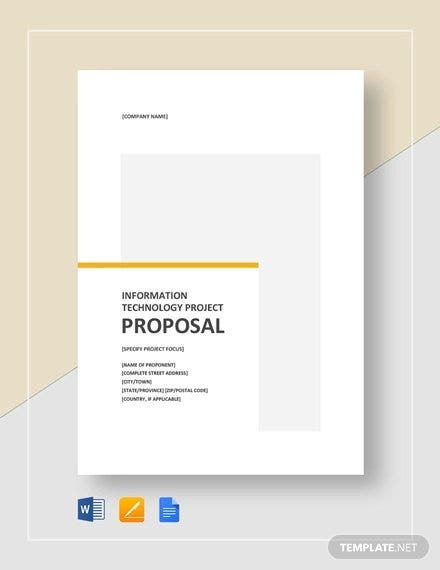 9+ IT Project Proposal Templates - Word, PDF, Apple Pages, Google