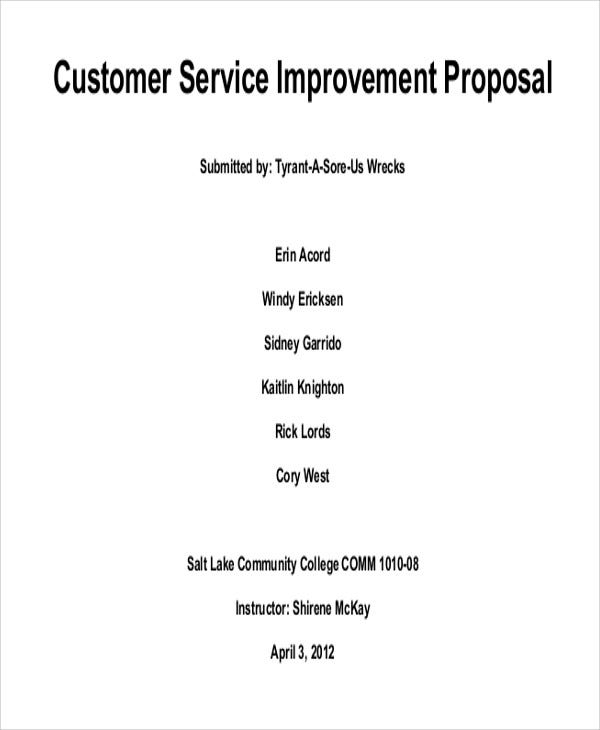 improvement proposal