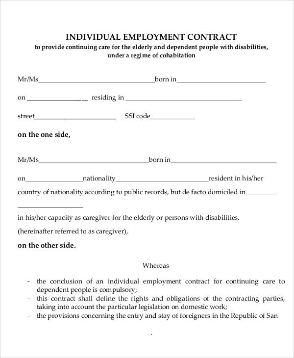 Free Employment Agreement Template