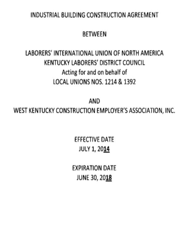 industrial construction agreement