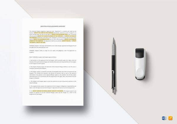 industrial-design-assignment-agreement-template