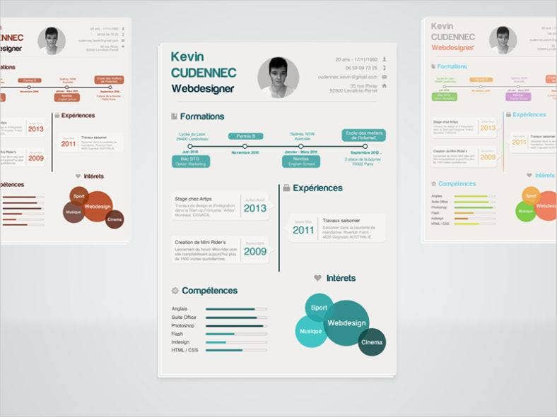 infographic-resume-psd