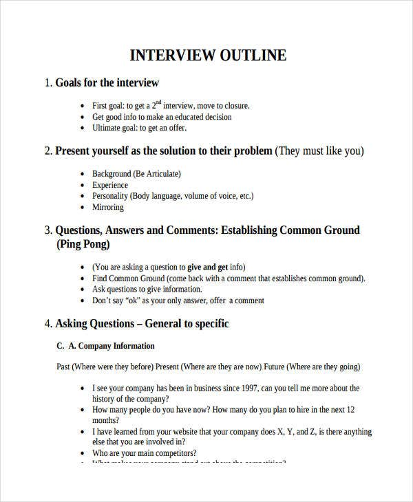 interview outline