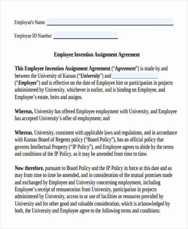 invention assignment agreement1