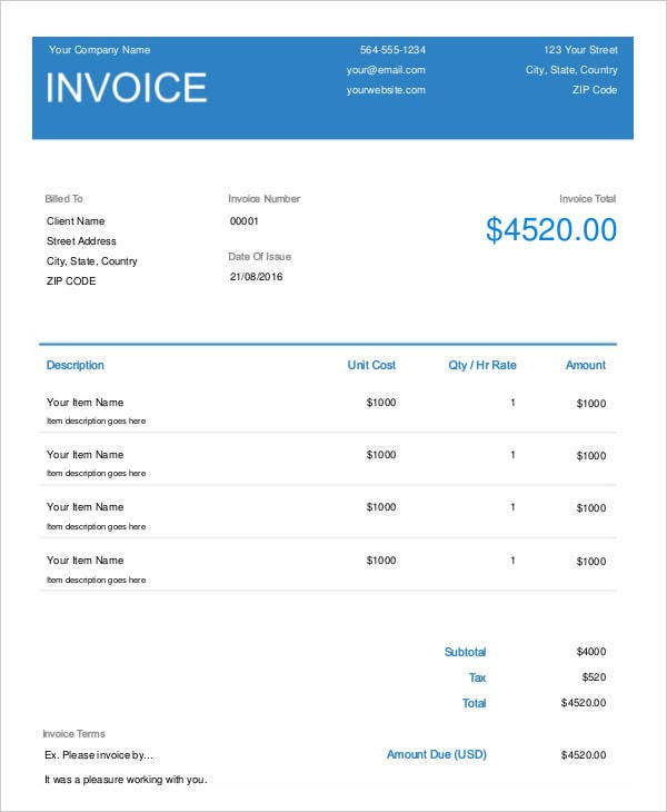invoice sample1