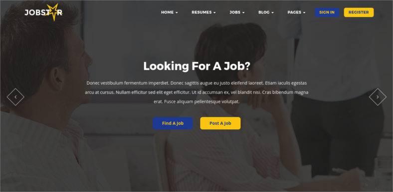 16 job board website templates job engine best free premium templates. Black Bedroom Furniture Sets. Home Design Ideas