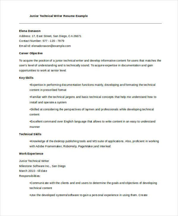 Writer Resumes 9 Free Word PDF Format Download Free