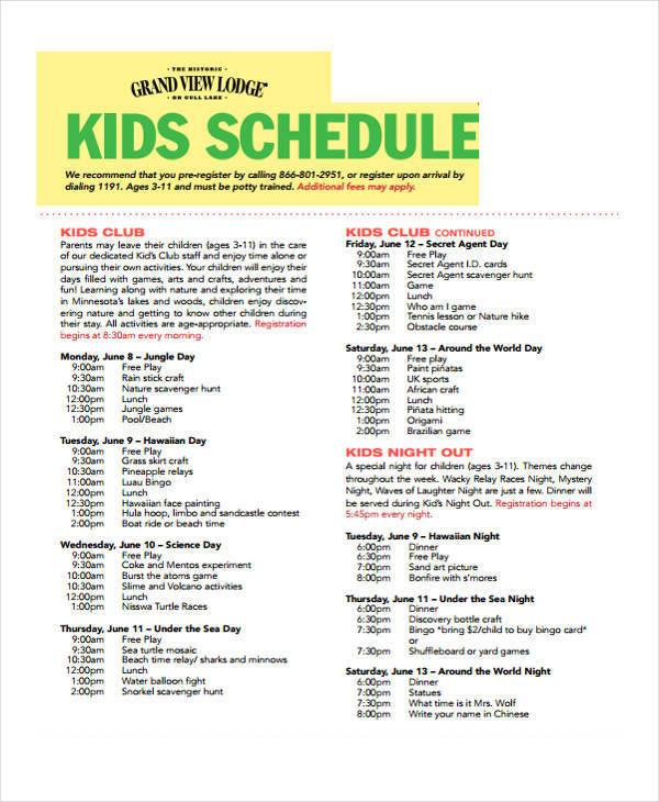 kids-schedule