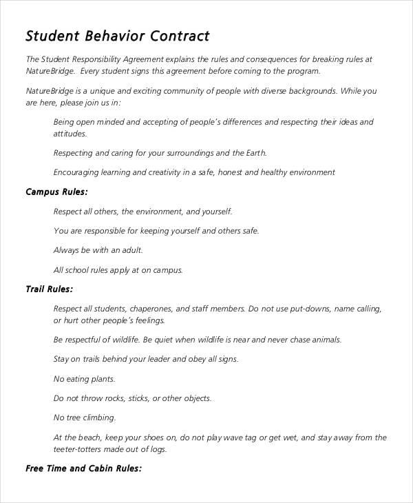 kindergarten contract