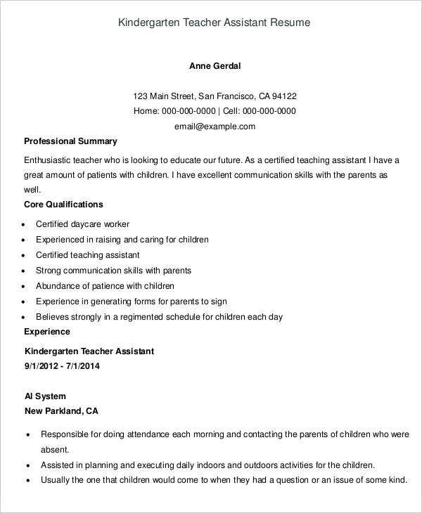 Teacher Resumes - 27+ Free Word, Pdf Documents Download | Free