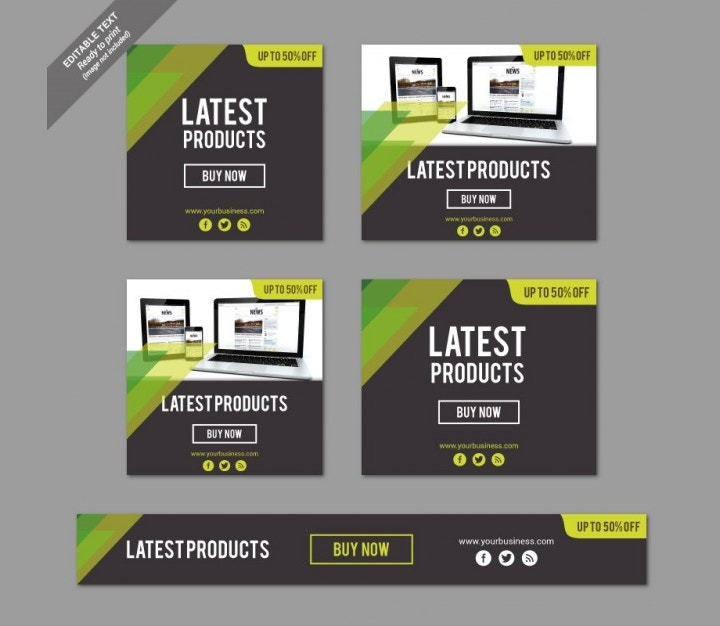latest products banners