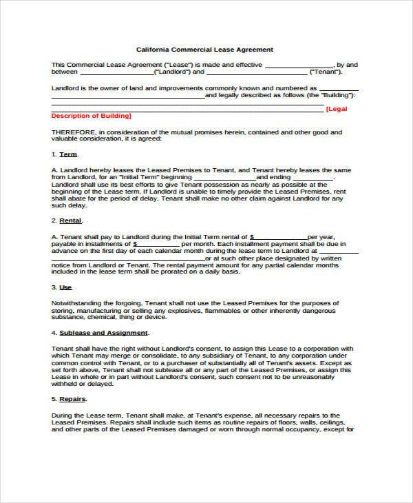 Commercial Agreement Templates - 10 Free Word, Pdf Format Download
