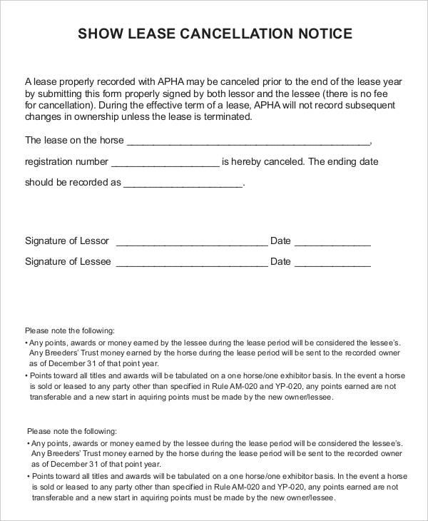 lease notice