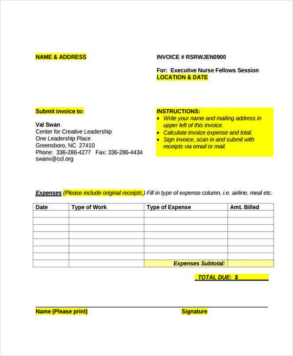 38 Sample Invoice Templates Word Pdf Excel Free