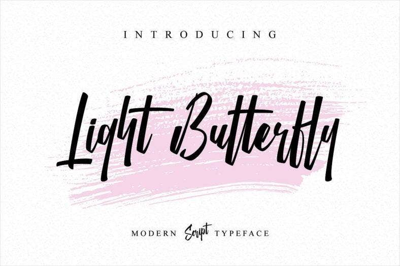 light-butterfly-typeface