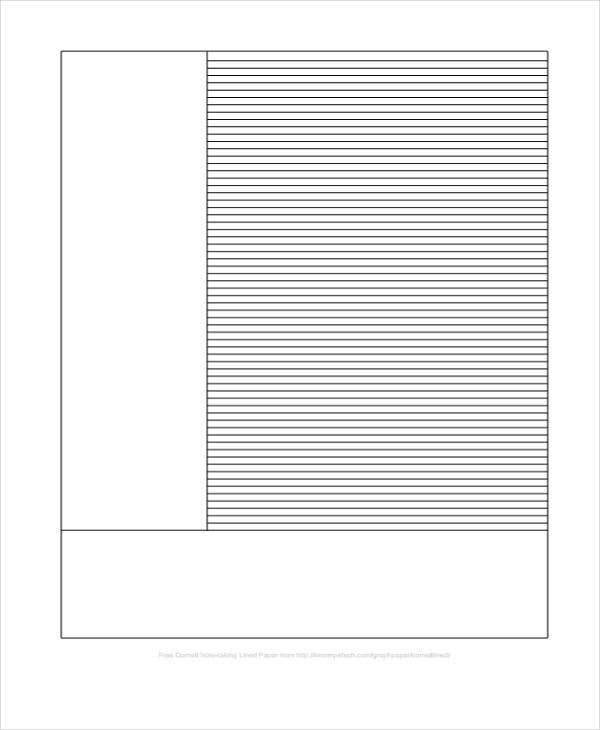 Lined Paper Templates  Free Sample Example Format Download
