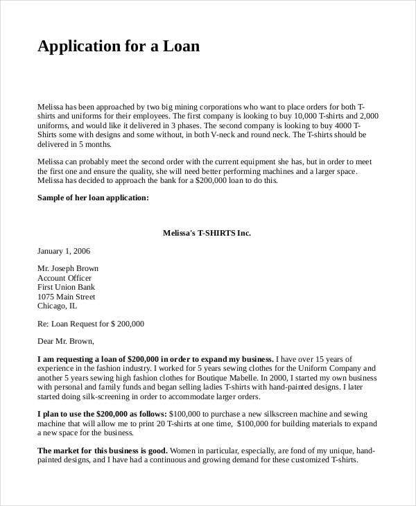 Loan Lication Proposal Template