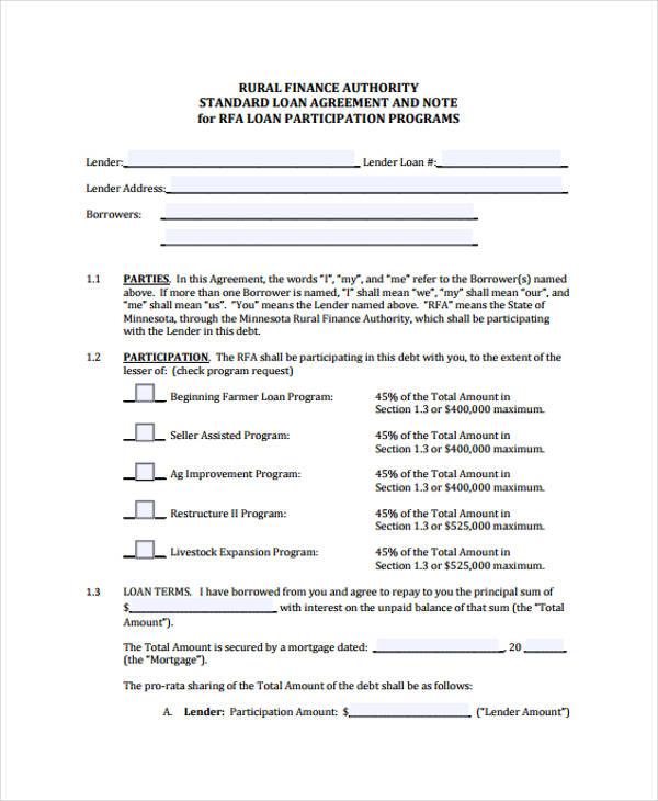 loan note agreement