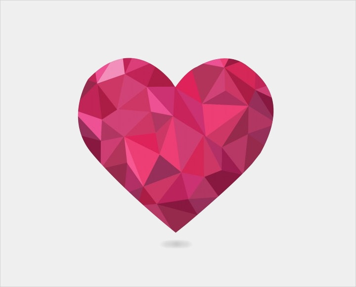 low-poly-heart
