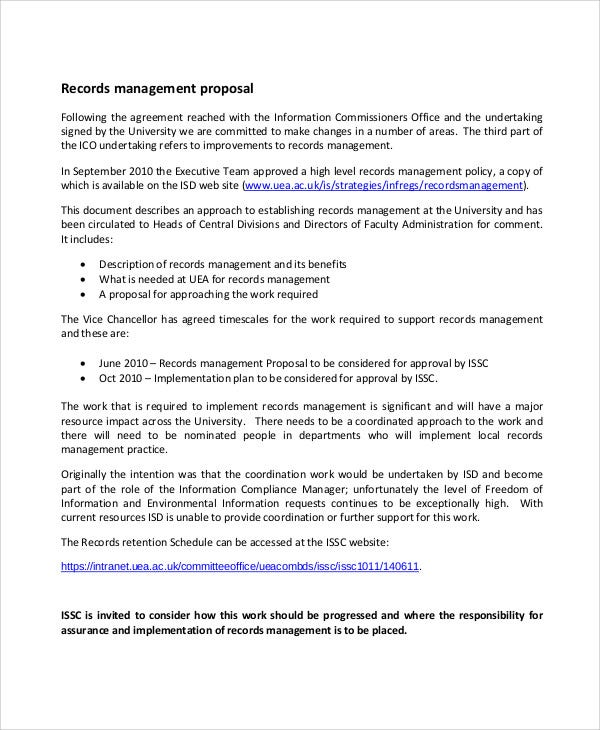 Management Proposal Templates - 6+ Free Word, Pdf Format Download