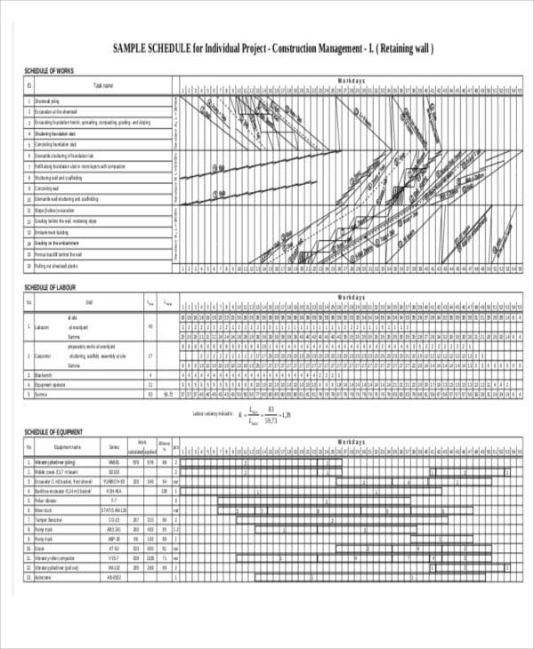 management schedule