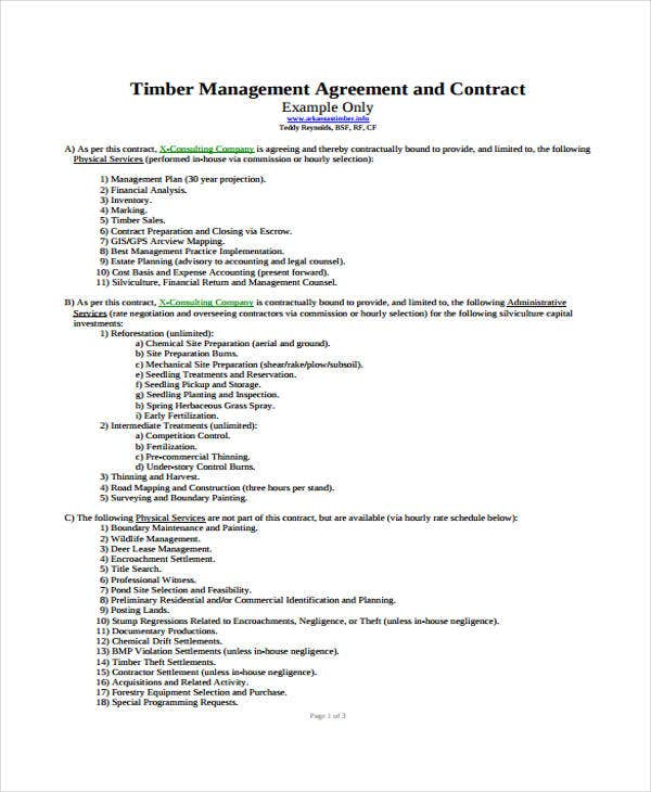 management timber