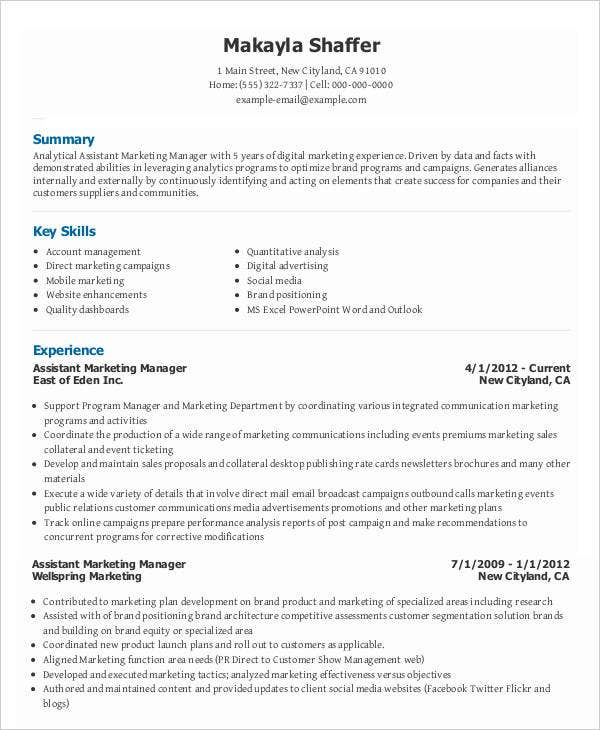 28  marketing resume templates