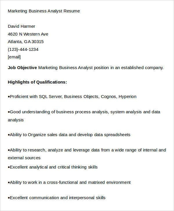 marketing resume download 42 free word pdf documents download