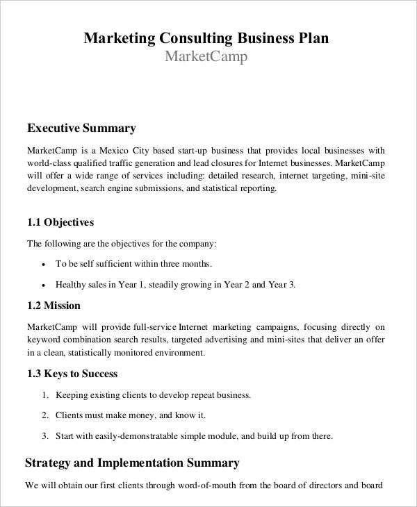 A Sample Environmental Consulting Firm Business Plan Template