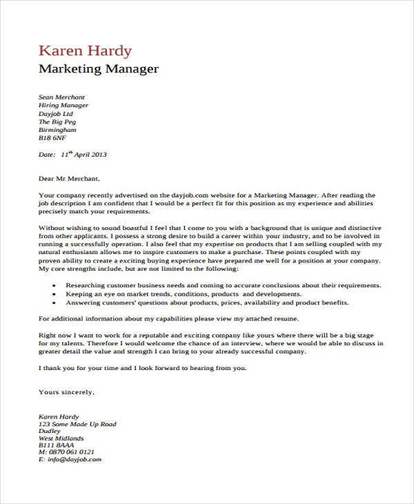 marketing cover letter2