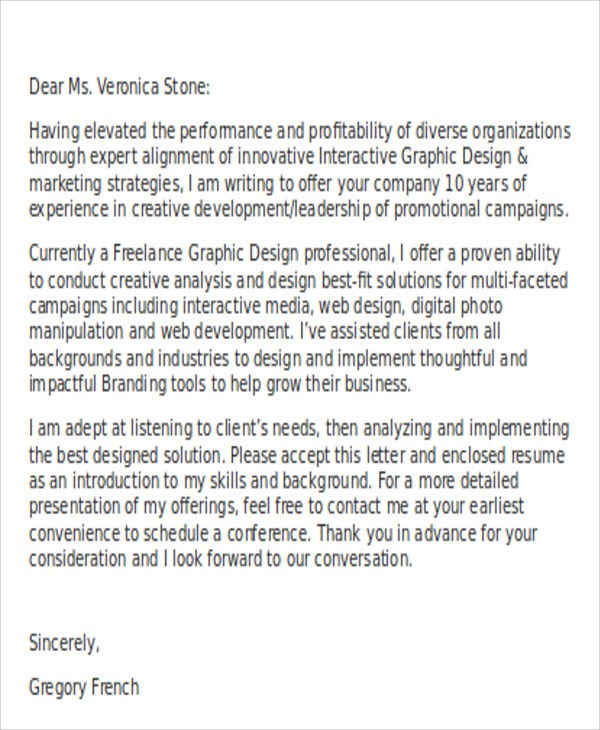Steps To Write Graphic Designer Cover Letters Are As Follows