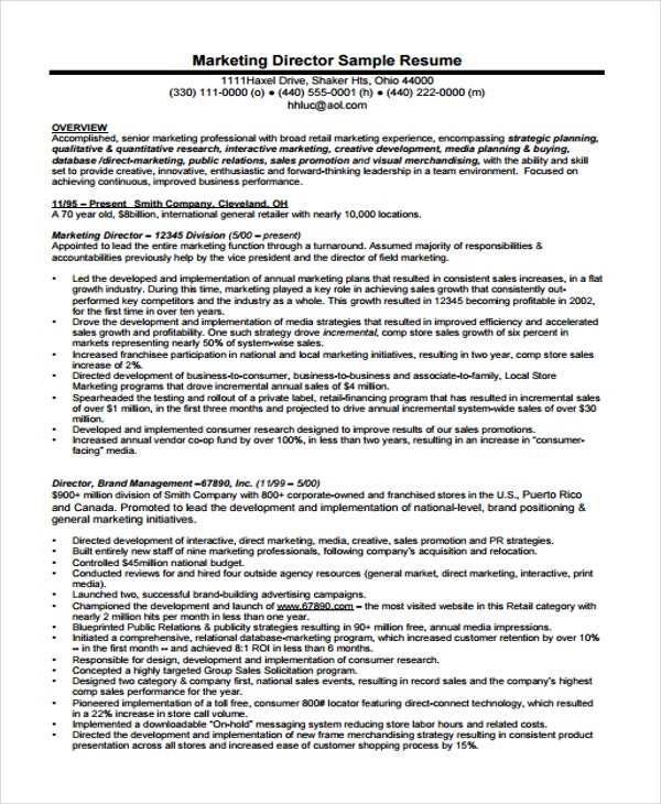 marketing curriculum vitae1
