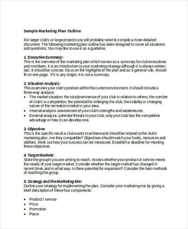 marketing plan outline1