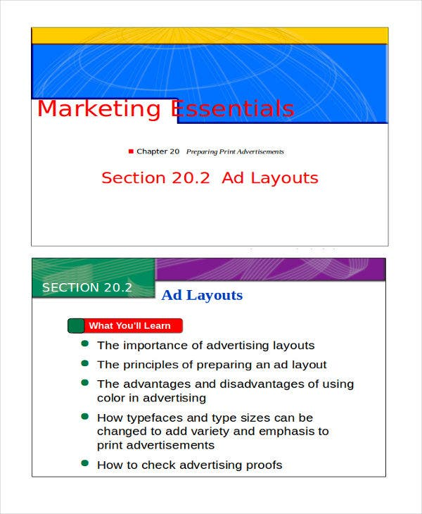marketing powerpoint layout