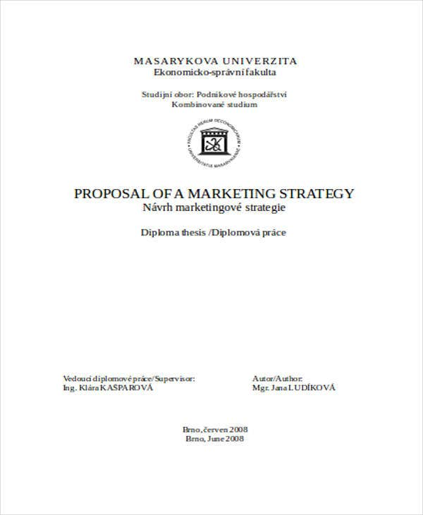 marketing proposal in word