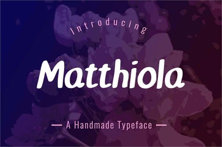 matthiola-font