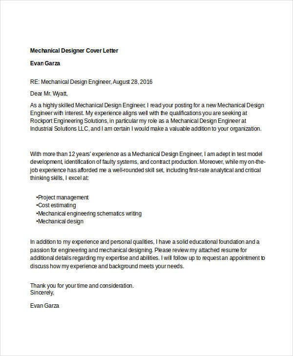 Designer Cover Letter - 11+ Free Word, PDF Format Download ...