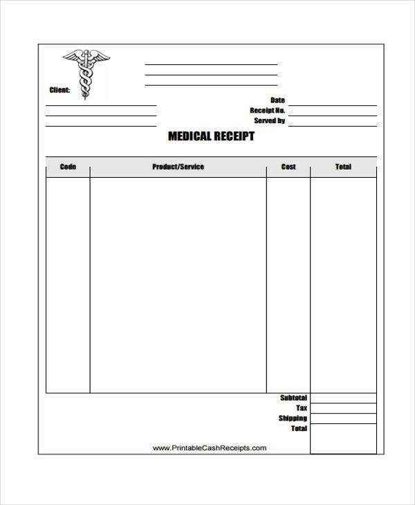 7 doctor receipt templates free sample example format download free premium templates. Black Bedroom Furniture Sets. Home Design Ideas