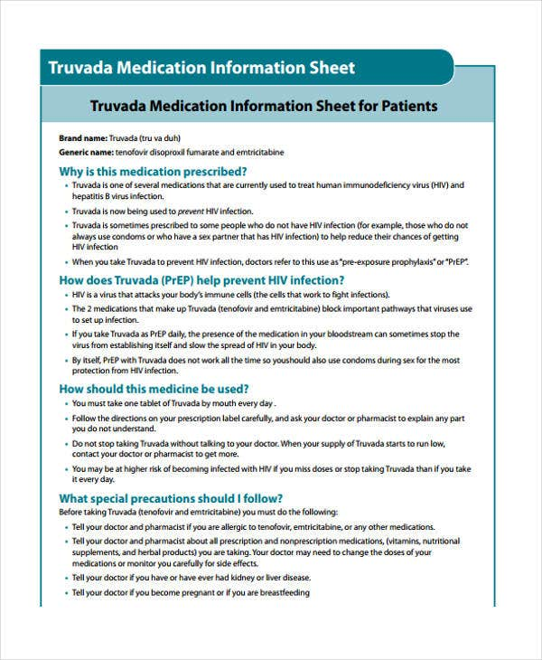 Medication Sheet Templates  Free Sample Example Format
