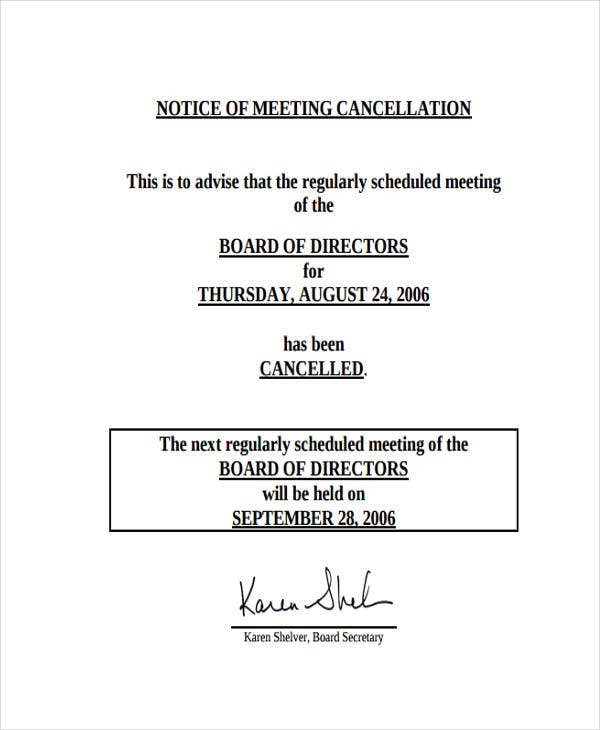 11  meeting notice templates