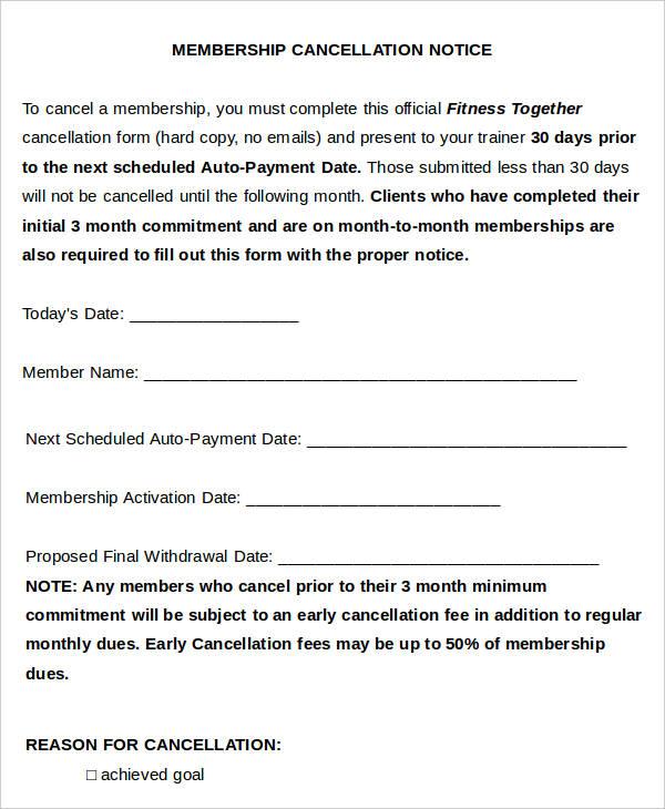 membership notice