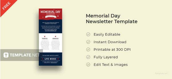 memorial-day-newsletter-template