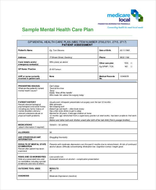 Healthcare Plan Templates  Free Sample Example  Free