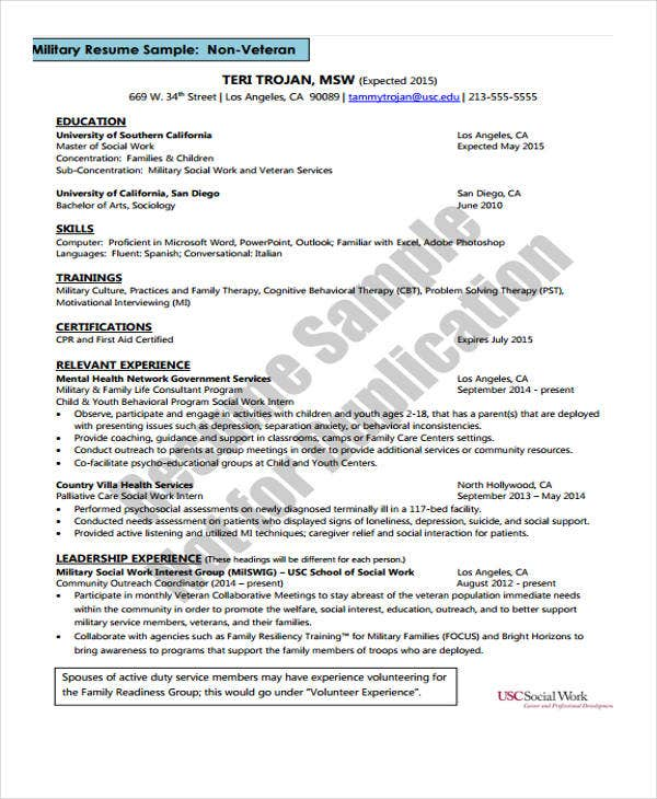 Social Worker Resumes - 8+ Free Word, Pdf Format Download | Free