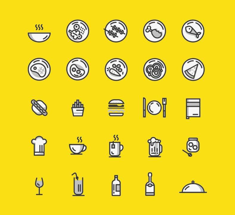 minimal-food-icons
