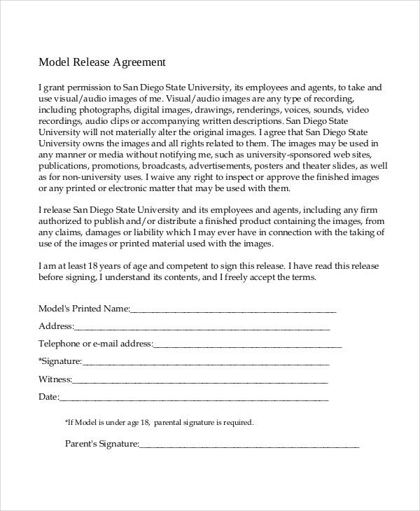 model agreement