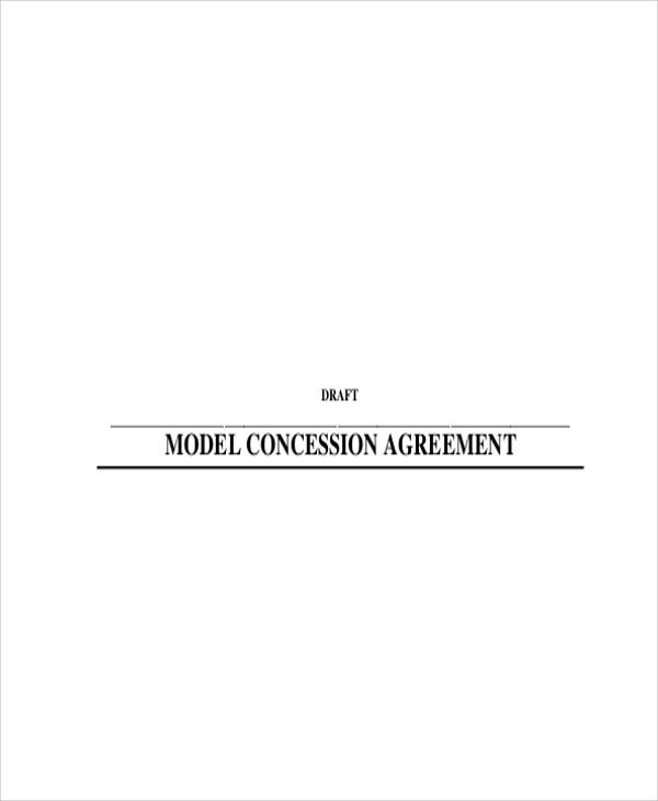 model concession agreement
